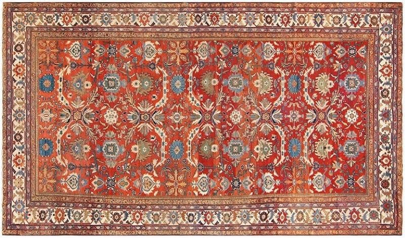 Antique Large Scale Persian Sultanabad Carpet Nazmiyal
