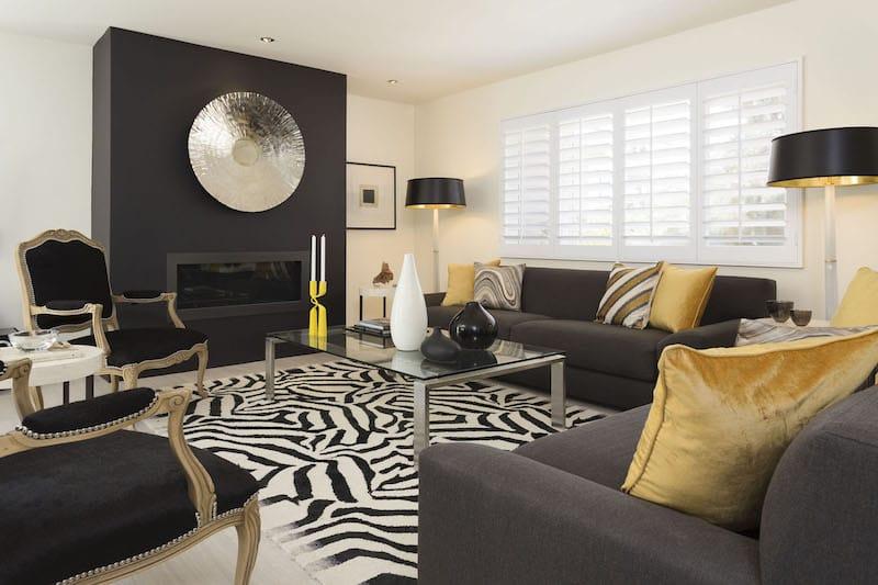 Hollywood Regency Decor Black and White Contrast Nazmiyal