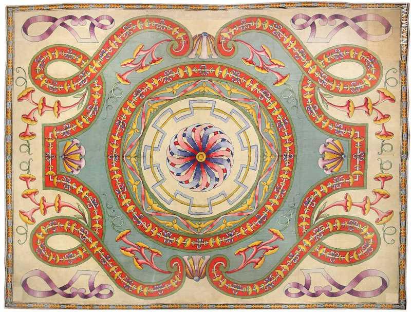 Oversized Spanish Art Deco Carpet Nazmiyal