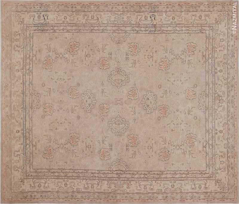Antique Grey Turkish Oushak Carpet Nazmiyal