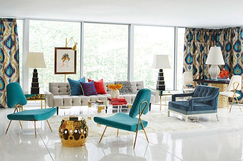 Hollywood Regency Decor Colors Patterns Nazmiyal