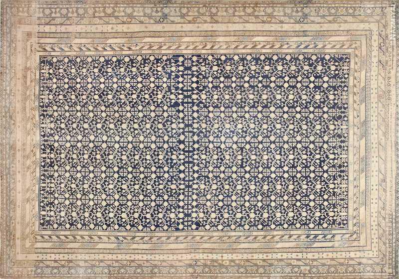 Oversized Antique Pomegranate Design Khotan Rug Nazmiyal