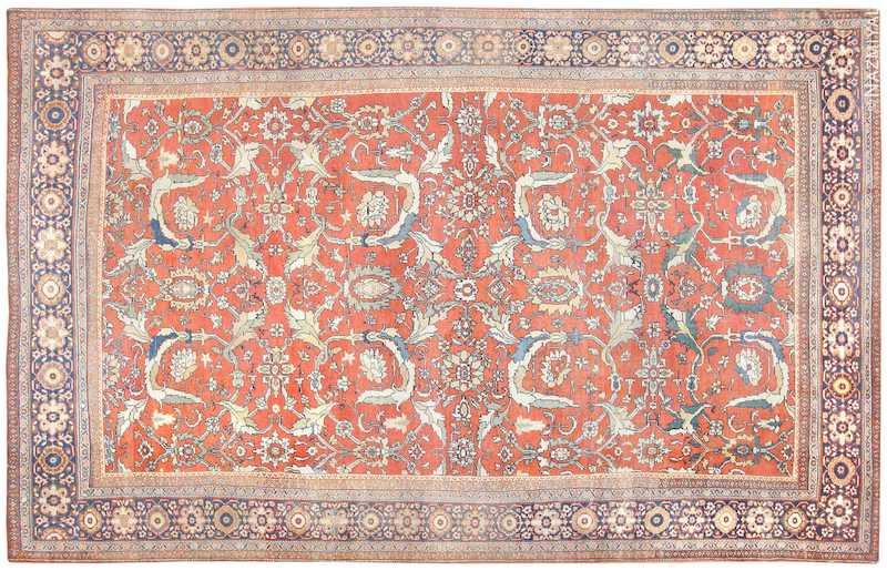 Antique Sultanabad Persian Rug Nazmiyal
