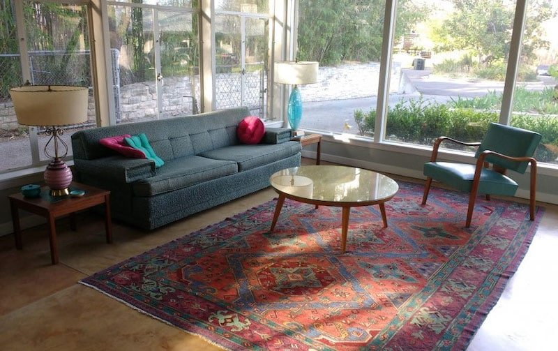 Antique Rug and Mid Century Furniture Colors Nazmiyal