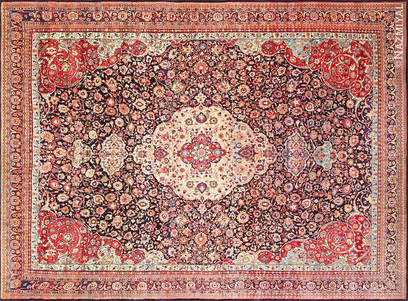 Fine Antique Persian Tehran Rug Nazmiyal