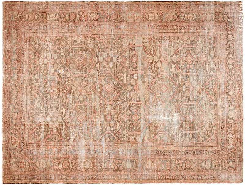 Large Antique Shabby Chic Persian Sultanabad Rug Nazmiyal