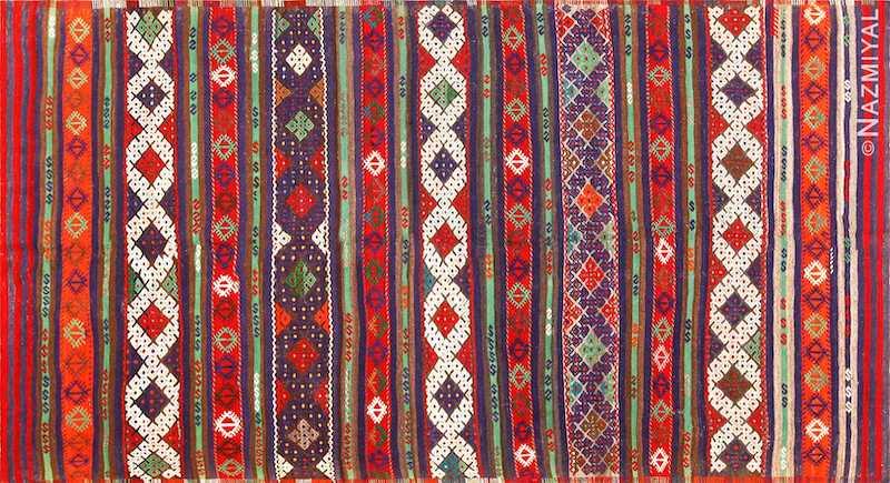 Vintage Tribal Turkish Kilim Nazmiyal