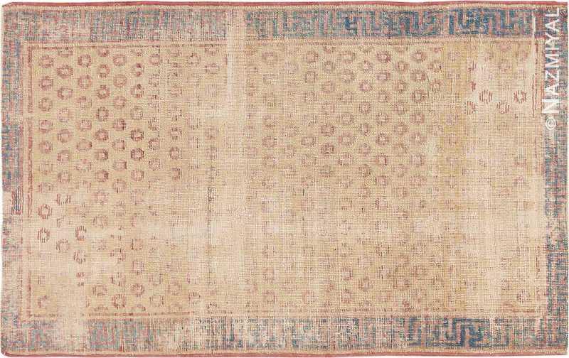 Small Tribal Antique Distressed Shabby Chic Khotan Rug Nazmiyal