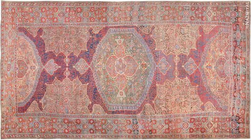 17th Century Large Turkish Oushak Smyrna Rug Nazmiyal