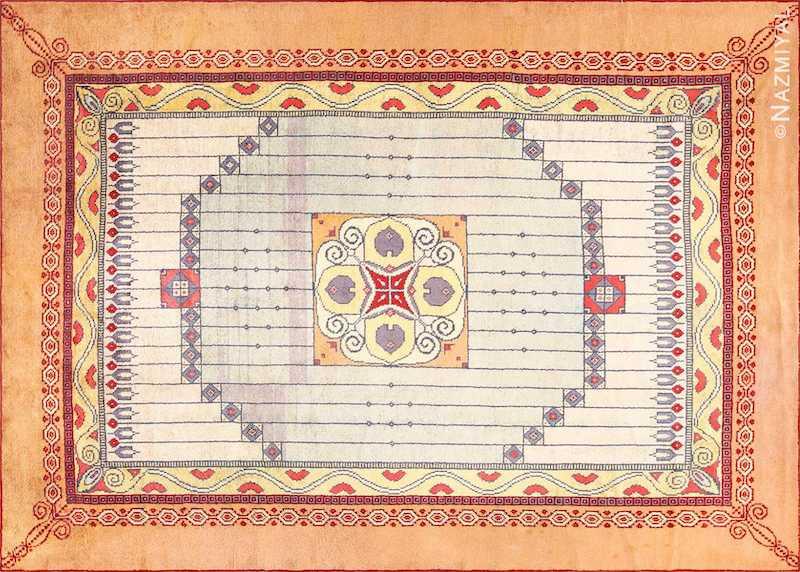 Art Nouveau Austrian Carpet Nazmiyal