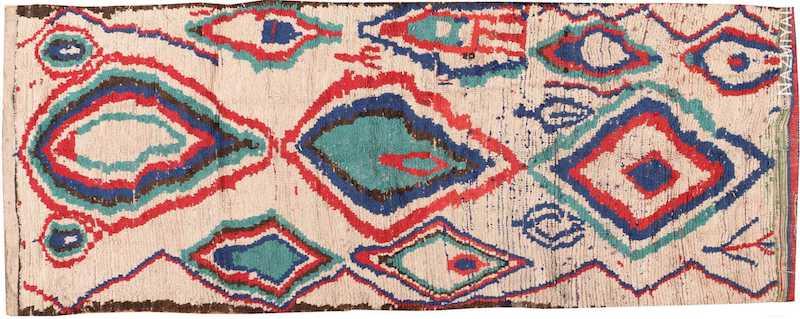Mid Century Colorful Vintage Moroccan Rug Nazmiyal