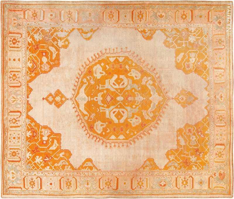 Decorative Antique Turkish Oushak Rug Nazmiyal
