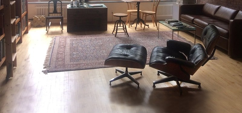 Antique Rug Eames Chair Nazmiyal