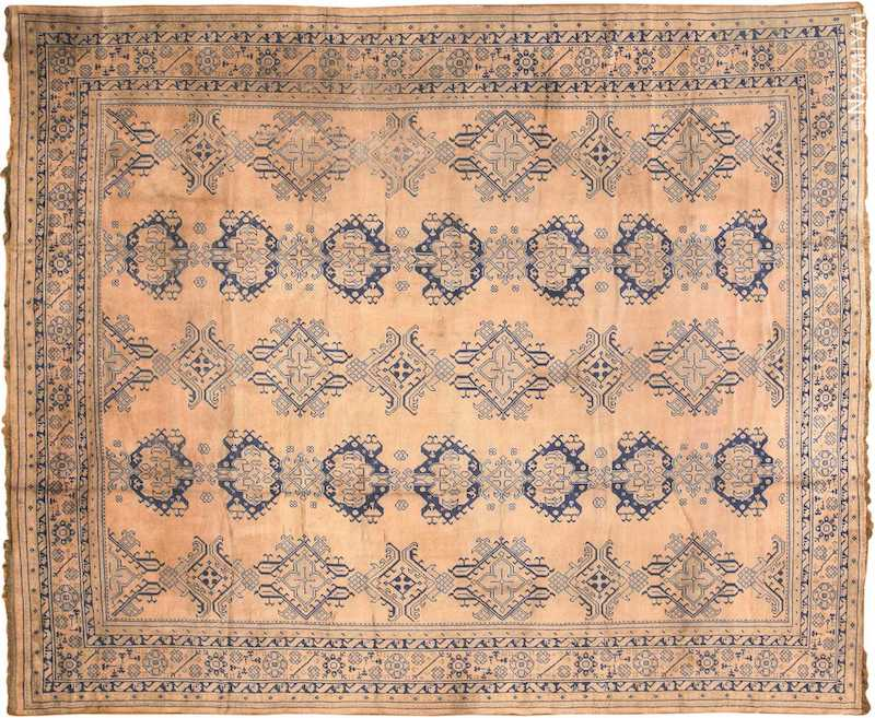 Large Antique Turkish Oushak Rug Nazmiyal